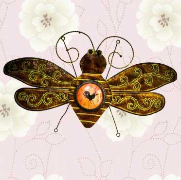 đồng hồ treo tường hình con ong