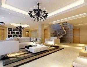 trang trí phòng khách với đèn