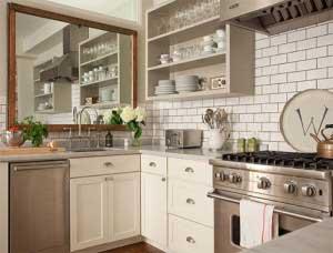 trang trí phòng bếp hẹp
