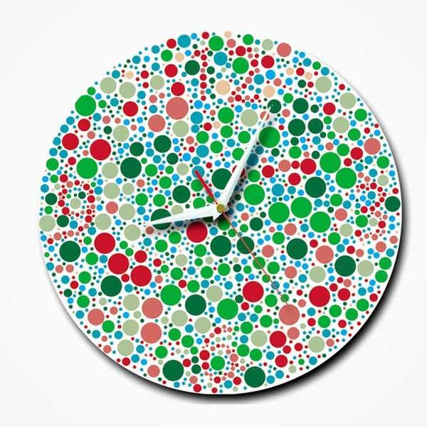 Đồng hồ treo tường dành cho người mù màu
