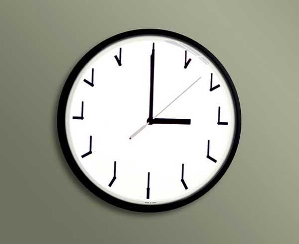 Đồng hồ treo tường nhìn từ nhiều hướng