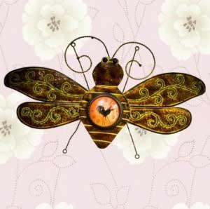 đồng hồ treo tường chú ong chăm chỉ