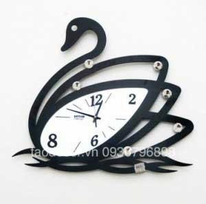 Đồng hồ treo tường chim thiên nga