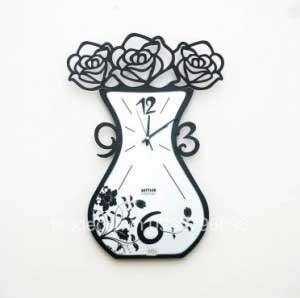 Đồng hồ lọ hoa hồng đẹp