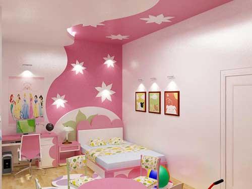 Màu sắc căn phòng nhẹ nhàng