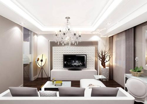 trang tri phòng khách bằng đèn led