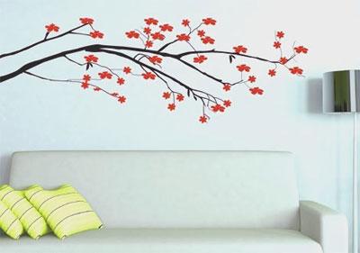 vẽ hoa trang trí tường nhà