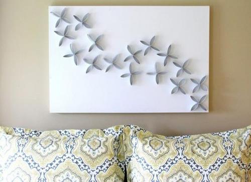 trang trí tường nhà handmade