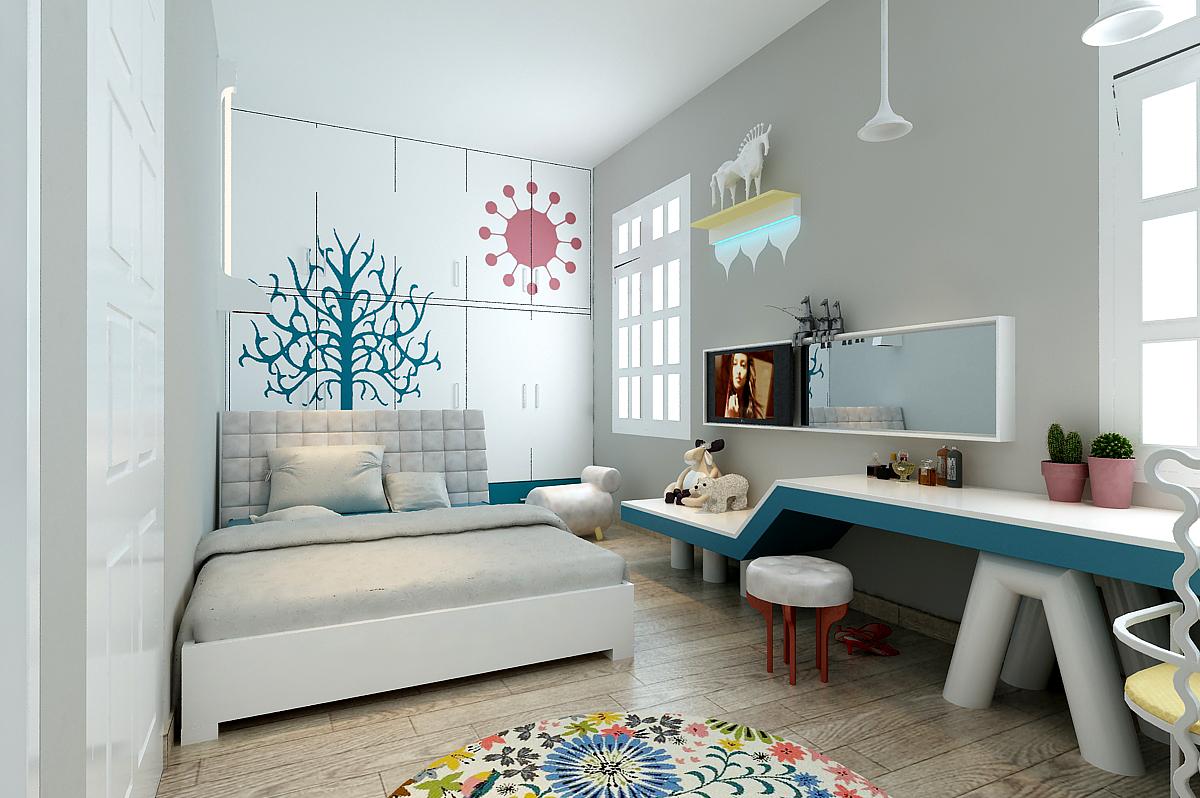 vẽ trang trí tường phòng ngủ