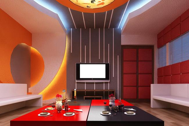 trang trí tường phòng karaoke