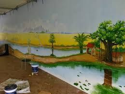 trang trí tường quán coffe