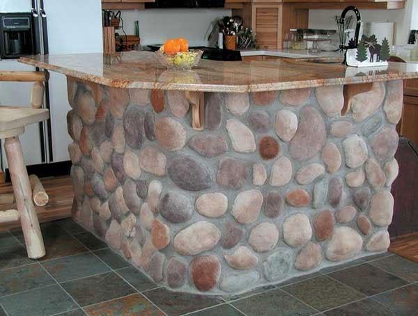 trang trí nhà bằng sỏi đá