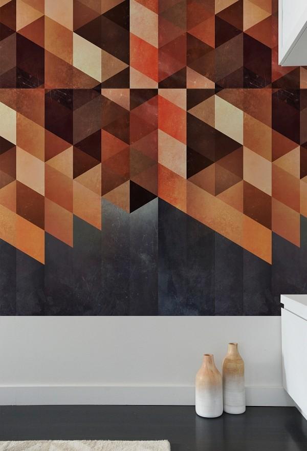 trang trí tường bằng gạch
