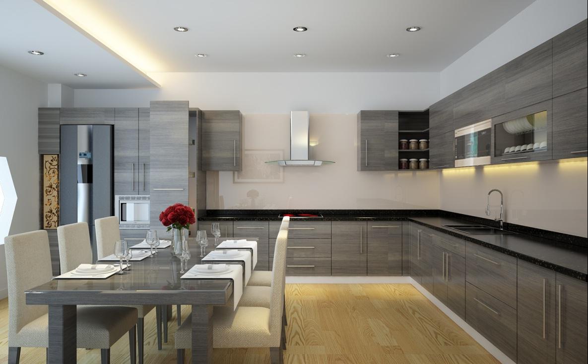 trang trí tường phòng bếp