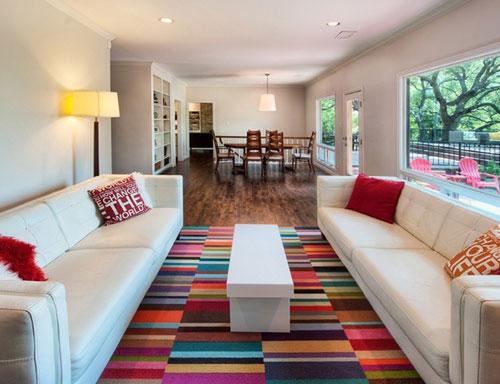 thảm trải sàn trang trí phòng khách