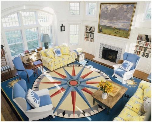thảm trải sanf trang trí phòng khách