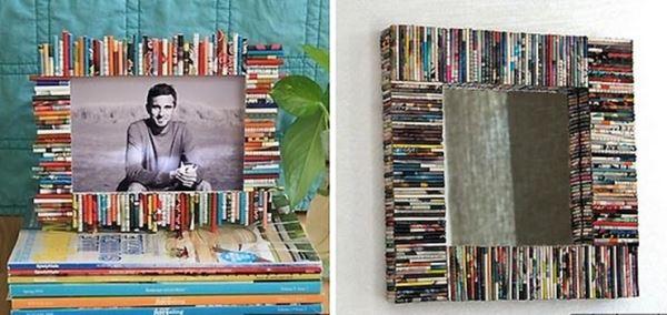trang trí tường bằng giấy báo