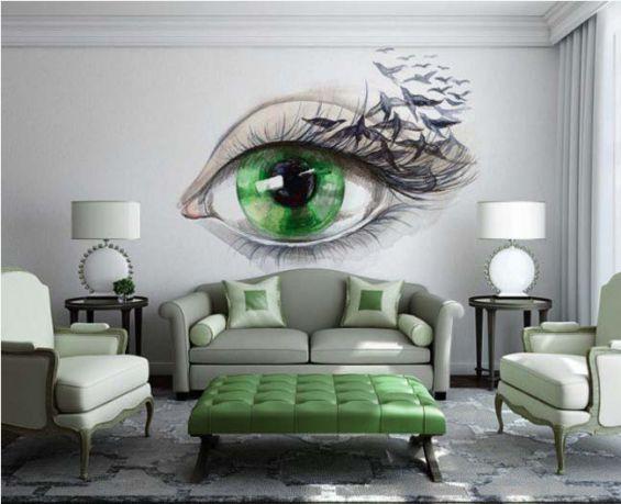 Mẫu trang trí tường phòng khách đẹp và độc