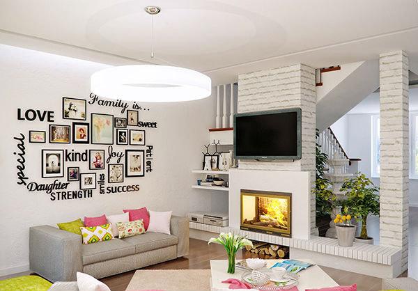 trang trí tường phòng khách