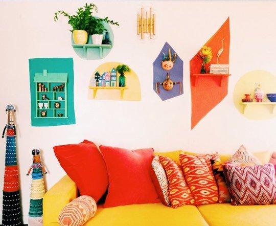 trang trí tường nhà đơn giản