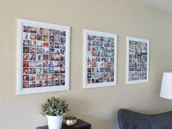 trang trí tường bằng khung ảnh