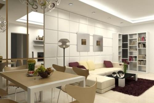trang trí phòng khách nhà chung cư