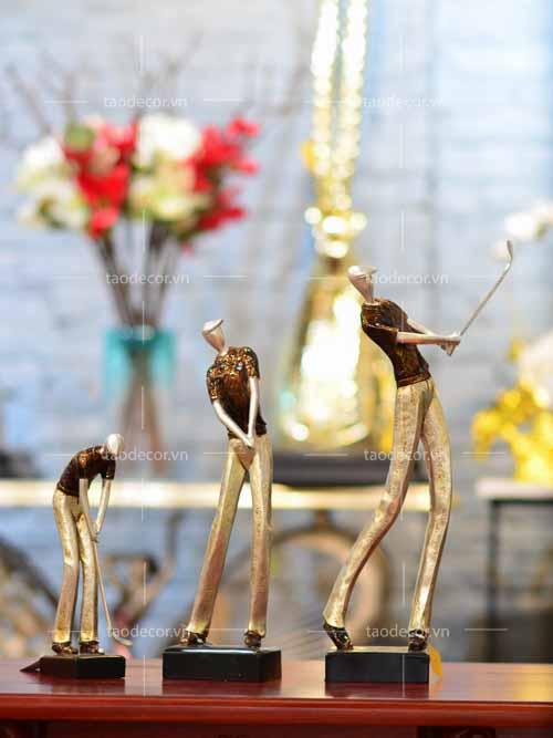 Tượng Ba Người Chơi Golf - taodecor.vn trang trí nhà và quà tặng