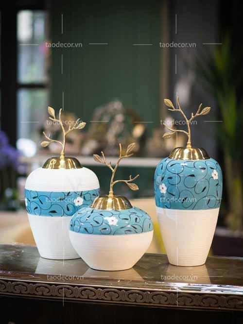 Bộ bình ngọc hoa - taodecor.vn trang trí nhà và quà tặng 2
