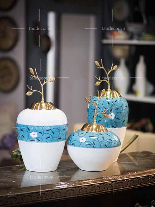 Bộ bình ngọc hoa - taodecor.vn trang trí nhà và quà tặng 3