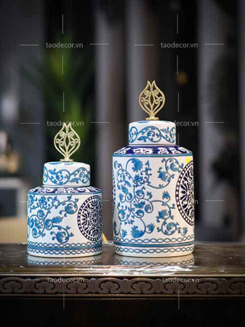 Bộ Bình Lam Ngọc - taodecor.vn trang trí nhà và quà tặng 6