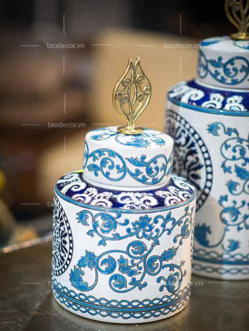 Bộ Bình Lam Ngọc - taodecor.vn trang trí nhà và quà tặng 1