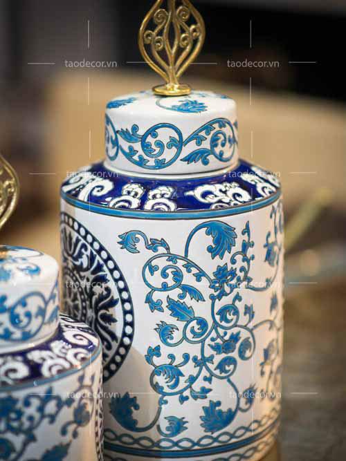 Bộ Bình Lam Ngọc - taodecor.vn trang trí nhà và quà tặng 2
