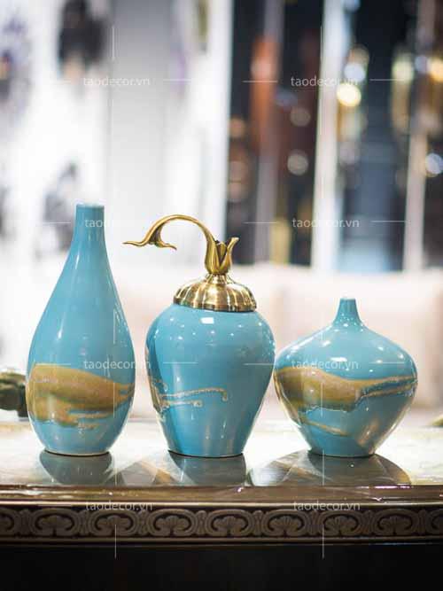 Bộ bình biển xanh - taodecor.vn trang trí nhà và quà tặng 3