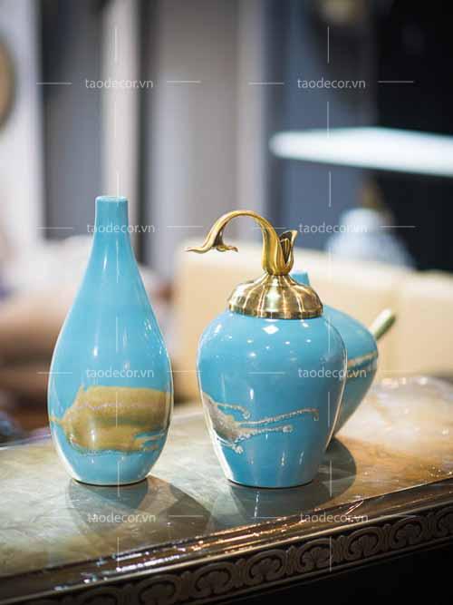 Bộ bình biển xanh - taodecor.vn trang trí nhà và quà tặng 2