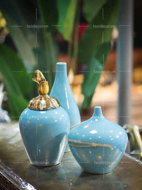 Bộ bình biển xanh - taodecor.vn trang trí nhà và quà tặng 1