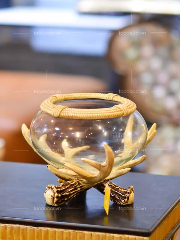 bể cá nhỏ sừng hươu - taodecor.vn trang trí nhà và quà tặng