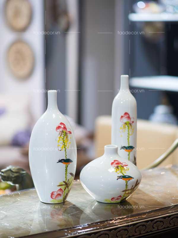 bộ bình hoa sen - taodecor.vn trang trí nhà và quà tặng 4