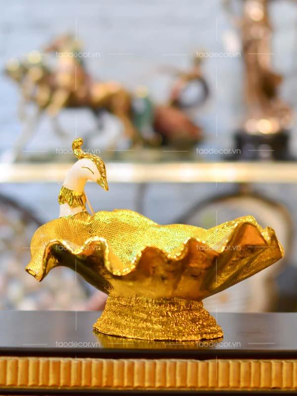 Khổng Tước Hoàng Hà Diệp - taodecor.vn trang trí nhà và quà tặng 2