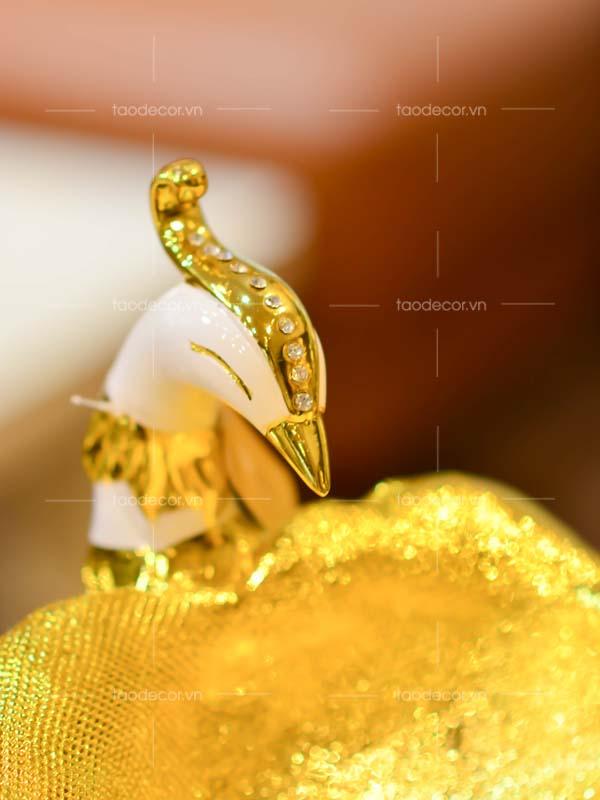 Khổng Tước Hoàng Hà Diệp - taodecor.vn trang trí nhà và quà tặng 5