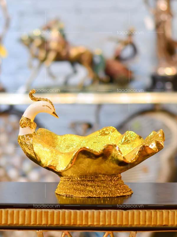 Khổng Tước Hoàng Hà Diệp - taodecor.vn trang trí nhà và quà tặng 1