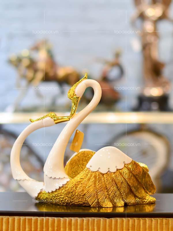 thiên nga hầu rượu vàng - taodecor trang trí nhà và quà tặng
