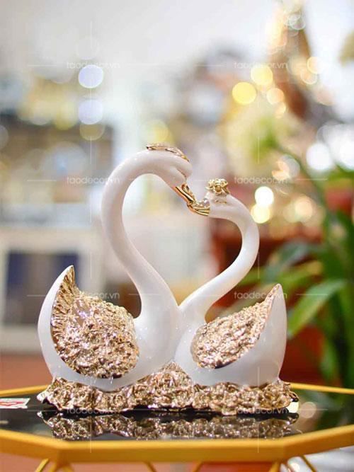 Đôi Thiên Nga Sứ Vàng - taodecor.vn trang trí nhà và quà tặng 2