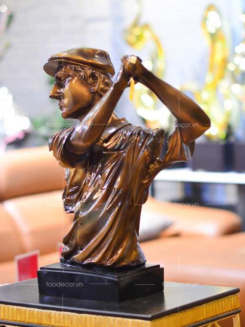 Tượng Nam Chơi Golf Bán Thân - taodecor.vn trang trí nhà và quà tặng 3