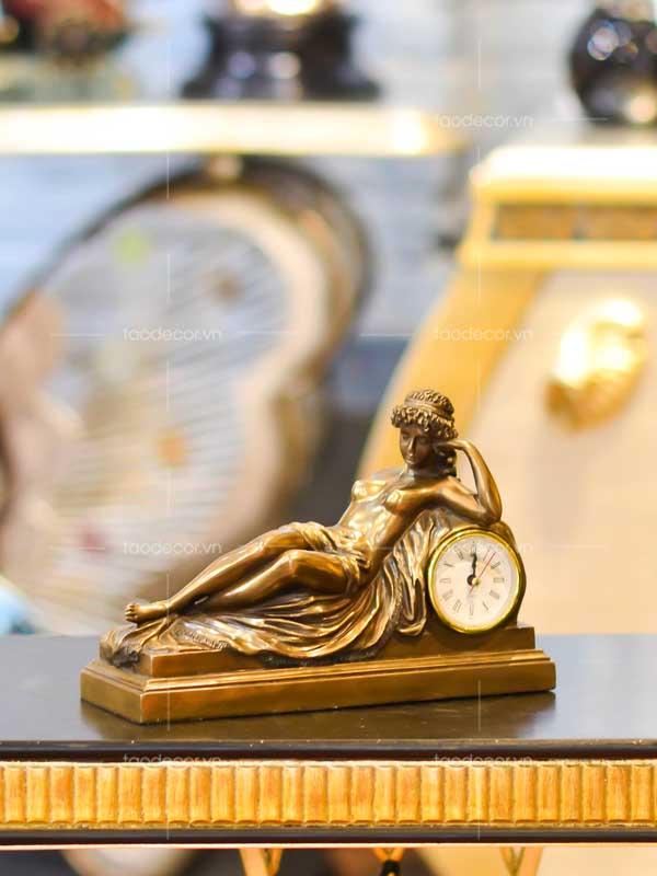 đồng hồ để bàn giả cổ - taodecor.vn trang trí nhà và quà tặng 2