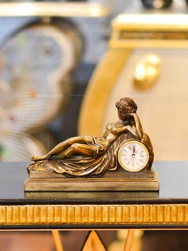đồng hồ để bàn giả cổ - taodecor.vn trang trí nhà và quà tặng 1