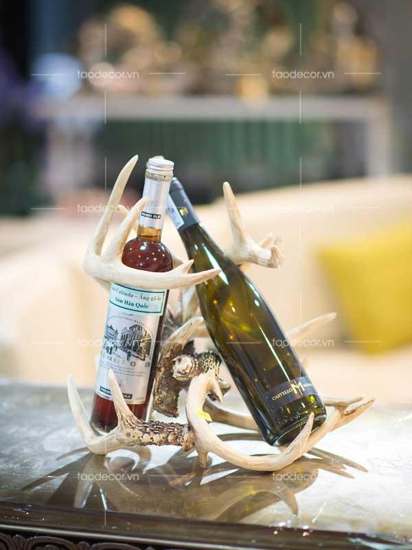 giá rượu sừng hươu - taodecor.vn trang trí nhà và quà tặng 2