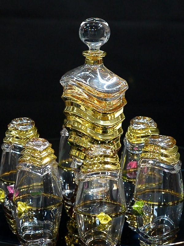 Bộ đựng rượu và ly The Wave Of Gold- Same Decorazion nhập khẩu chính hãng từ Italy 7
