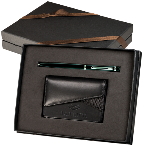 Bút kí và hộp đựng namecard trong quà tặng doanh nghiệp