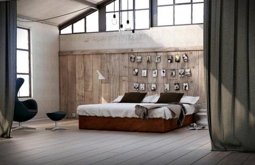 Một bức tường gỗ đơn giản