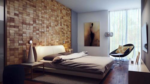 Những bức tường gỗ dạng gạch